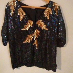 Vintage 80s sequins blouse